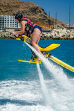 Woman on a jet ski Stock Image