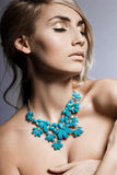 Woman with jewellry Royalty Free Stock Image