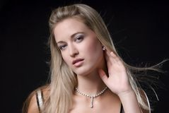 Woman and jewelry Stock Photos