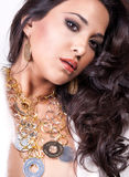 Woman with jewelry. Sensual gorgeous woman with jewelry Stock Photos