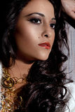Woman with jewelry. Sensual gorgeous woman with jewelry stock images