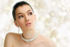 Woman with jewelry Royalty Free Stock Photo
