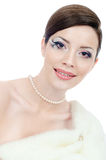 Woman with jewelry Royalty Free Stock Photography