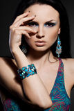 Woman with jewelry stock image