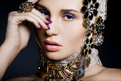 woman with jewelry Royalty Free Stock Photos