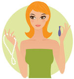 Woman with jewels Royalty Free Stock Photo