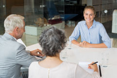Woman during job interview Stock Photography