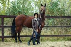Woman jockey Royalty Free Stock Images