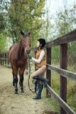 Woman jockey Royalty Free Stock Photography