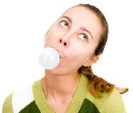 Woman jockey bubble Royalty Free Stock Image