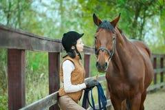 Woman jockey Stock Images