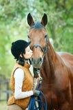 Woman jockey Royalty Free Stock Photos