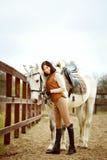 Woman jockey Royalty Free Stock Image