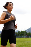 Woman Jogging Royalty Free Stock Image