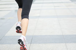 Woman jogging Stock Image