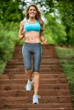 Woman Jogging Stock Images