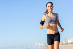 Woman jogging morning Royalty Free Stock Image