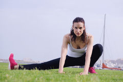 Woman jogging at morning Stock Photography