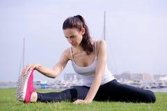 Woman jogging at morning Royalty Free Stock Photos