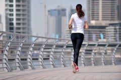 Woman jogging at morning Royalty Free Stock Photo