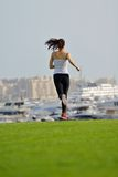 Woman jogging at morning Royalty Free Stock Photo