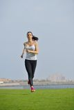 Woman jogging at morning Royalty Free Stock Photography