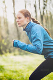 Woman Jogging in Nature Royalty Free Stock Images