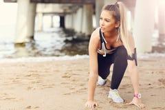 Free Woman Jogging On The Beach Stock Photos - 94246793