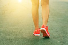 Woman jogging at outdoor park Royalty Free Stock Image