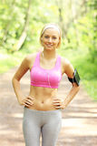 Woman jogging in the park Stock Image