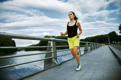 Woman jogging at park Stock Photography