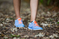 Woman jogging in park Royalty Free Stock Photo