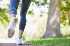 Woman jogging on path in the park Royalty Free Stock Images