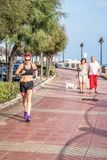 Woman Jogging with sports clothes royalty free stock photo