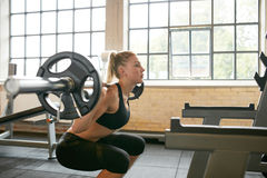 Woman jogging on treadmill Royalty Free Stock Photography