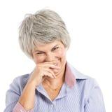 Woman joking Stock Image