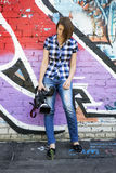 Woman journalist Royalty Free Stock Photography