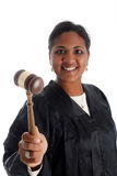 Woman Judge. Minority woman judge on a white background Royalty Free Stock Image