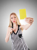 Woman judge against the gradient Royalty Free Stock Photography