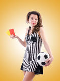 Woman judge against the gradient. The woman judge against the gradient Royalty Free Stock Photo