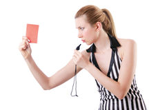 Woman judge isolated Stock Photography