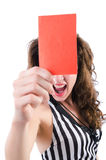 Woman judge isolated Stock Image