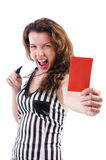Woman judge isolated Stock Images
