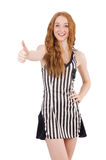 Woman judge isolated Royalty Free Stock Image
