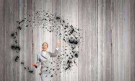 Woman juggler Royalty Free Stock Images