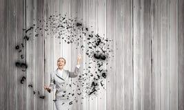 Woman juggler Stock Image