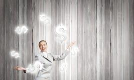Woman juggler Stock Photo