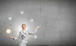 Woman juggler Royalty Free Stock Photos