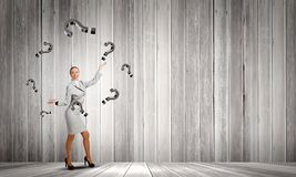 Woman juggler Royalty Free Stock Photography