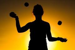 Woman Juggling Royalty Free Stock Photo